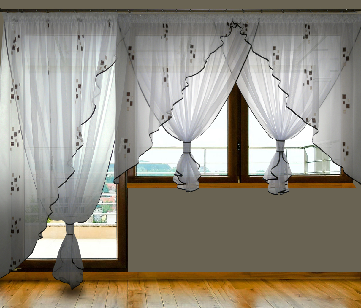 ag21a fertiggardine aus voile neu design balkont r sch ne. Black Bedroom Furniture Sets. Home Design Ideas