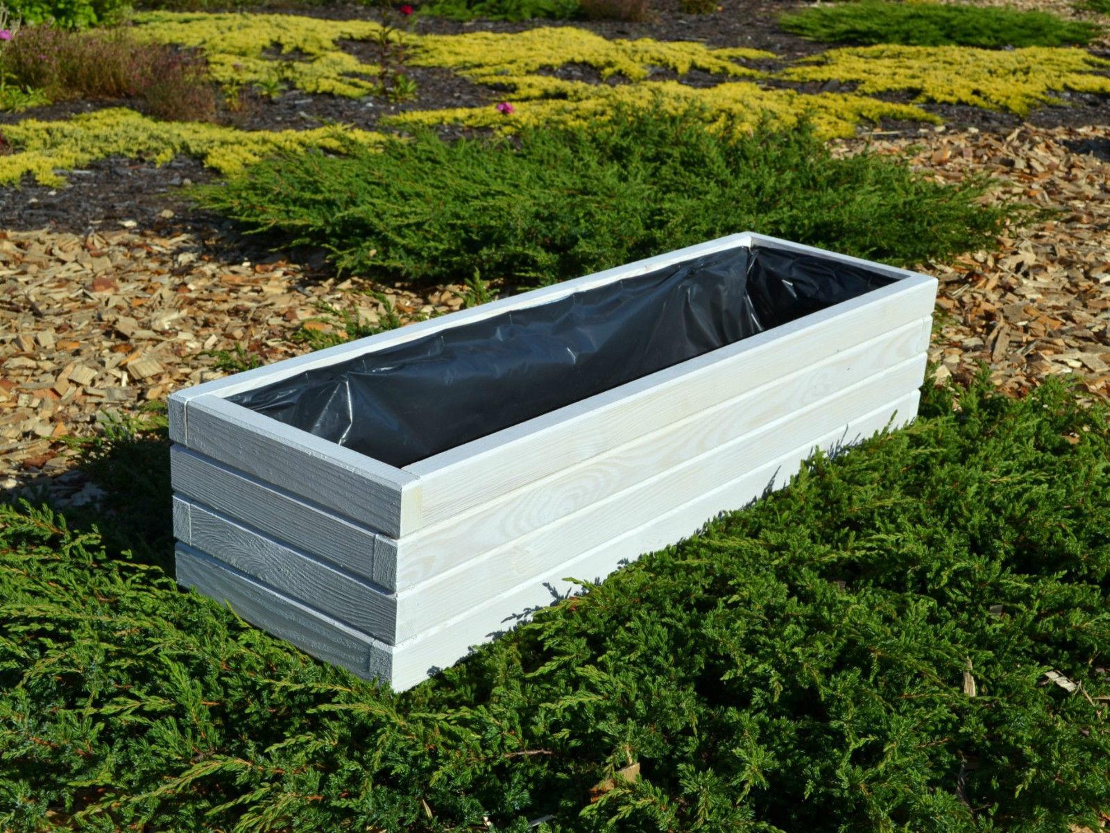 pflanzk bel holz d2 pflanzkasten 80 100 cm xxl grau wei. Black Bedroom Furniture Sets. Home Design Ideas