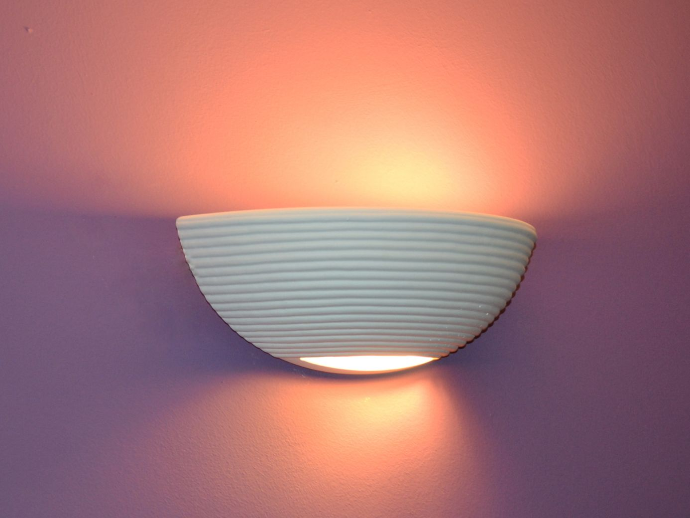 Elsa applique da parete lampada ceramica gesso bianco set per