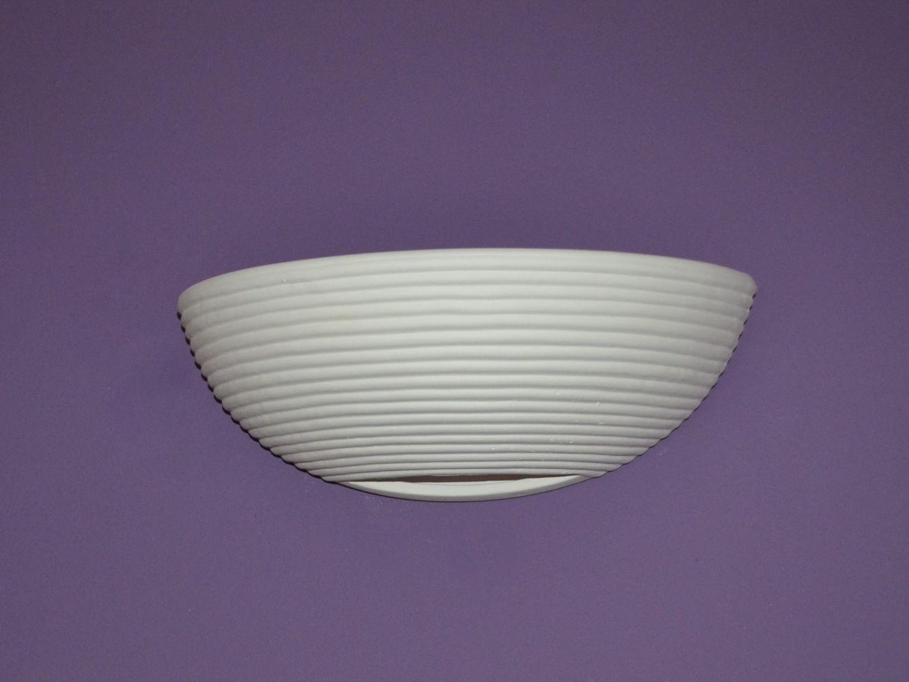 Applique da parete lampada ceramica gesso elsa set per led