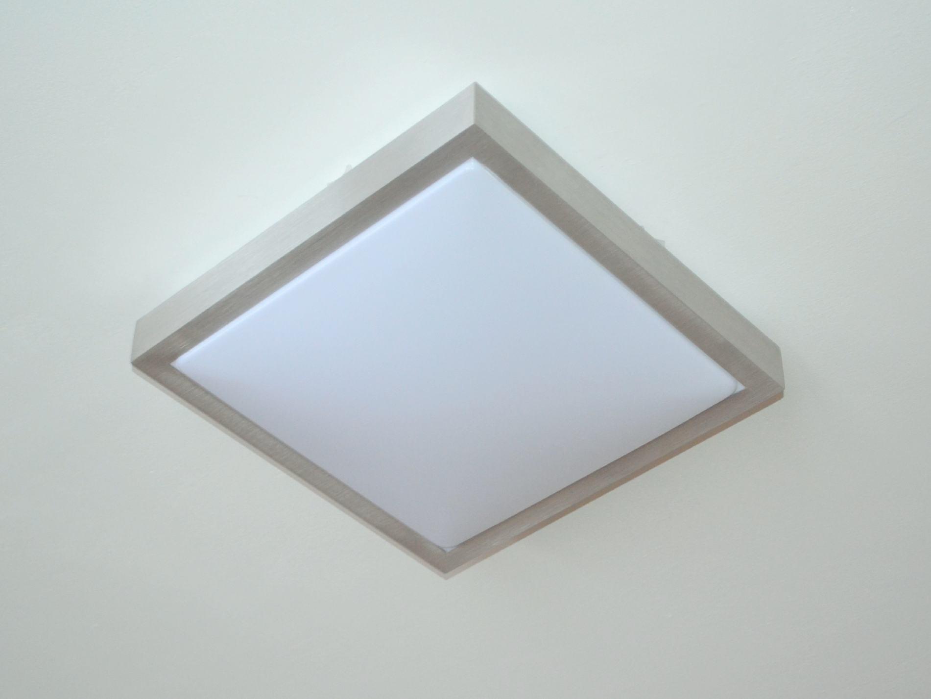 xd q12 deckenlampe deckenleuchte 12 watt rechteckig alu flurlampe led wohnzimmer ebay. Black Bedroom Furniture Sets. Home Design Ideas