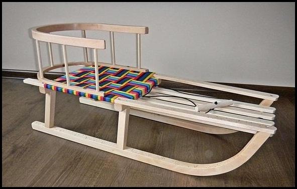 super holzschlitten schlitten mit lehne fu sack. Black Bedroom Furniture Sets. Home Design Ideas