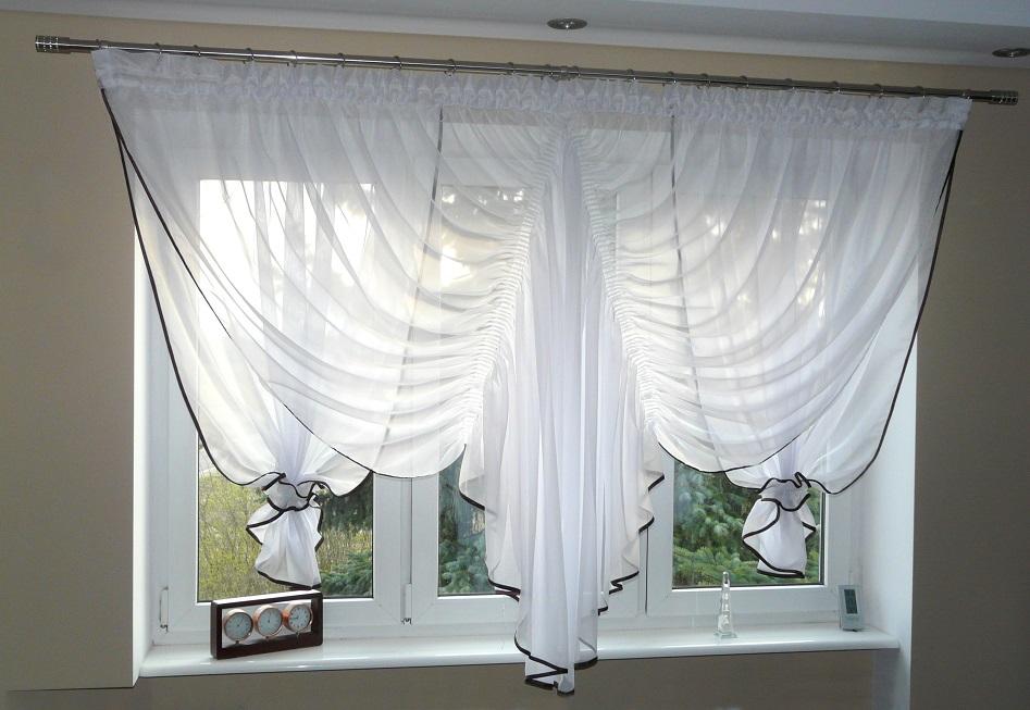 fertiggardine aus voile quadrat sch ne gardine ag22 modern weiss braun fenster ebay. Black Bedroom Furniture Sets. Home Design Ideas