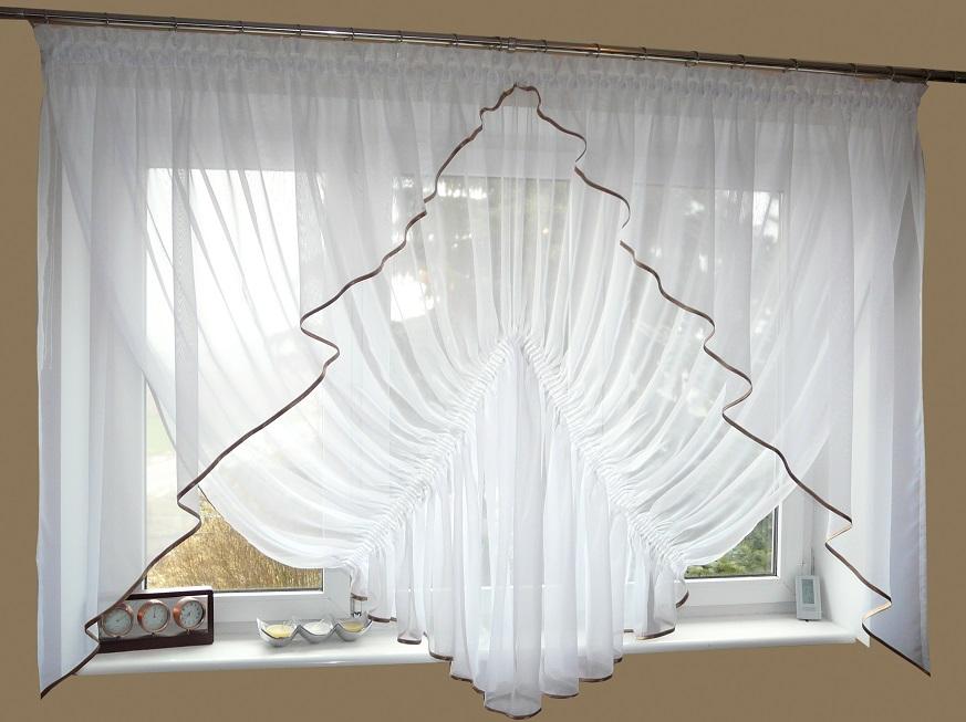 moderne fertiggardine aus voile set schöne gardine ag20b