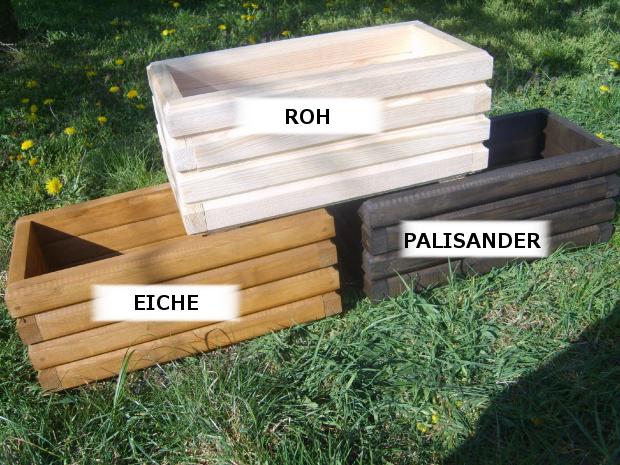 Pflanzkübel Holz D2 Pflanzkasten 80/100 cm XXL Blumenkasten ...