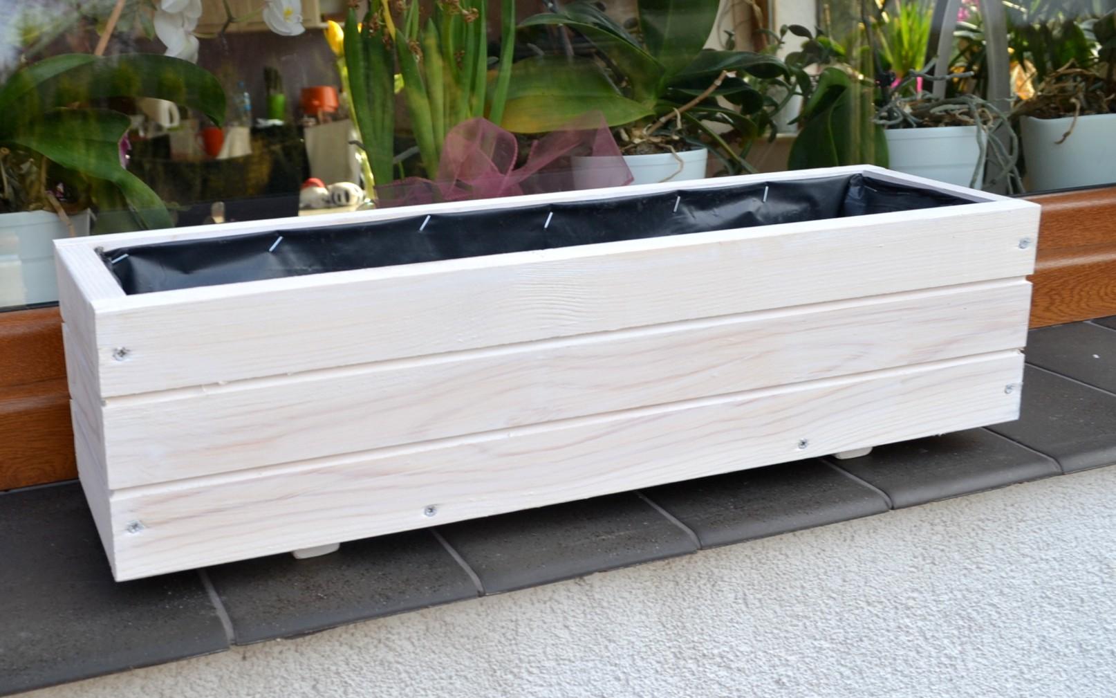 neu pflanzkübel holz d6 pflanzkasten 60 / 90 cm blumenkasten