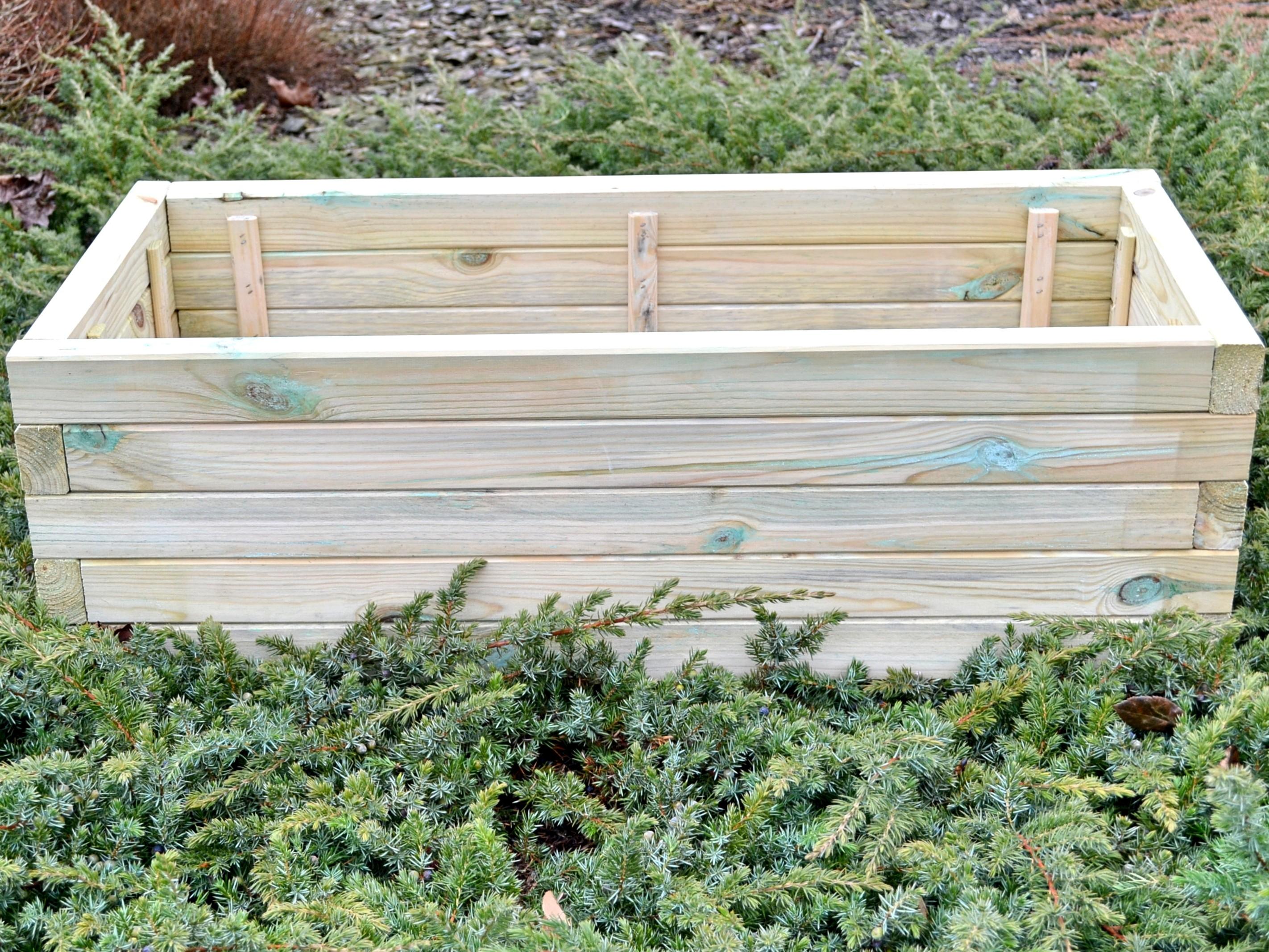 Pflanzkasten aus Holz Pflanzkübel Grün D22 90x40x29 cm Kübel ...