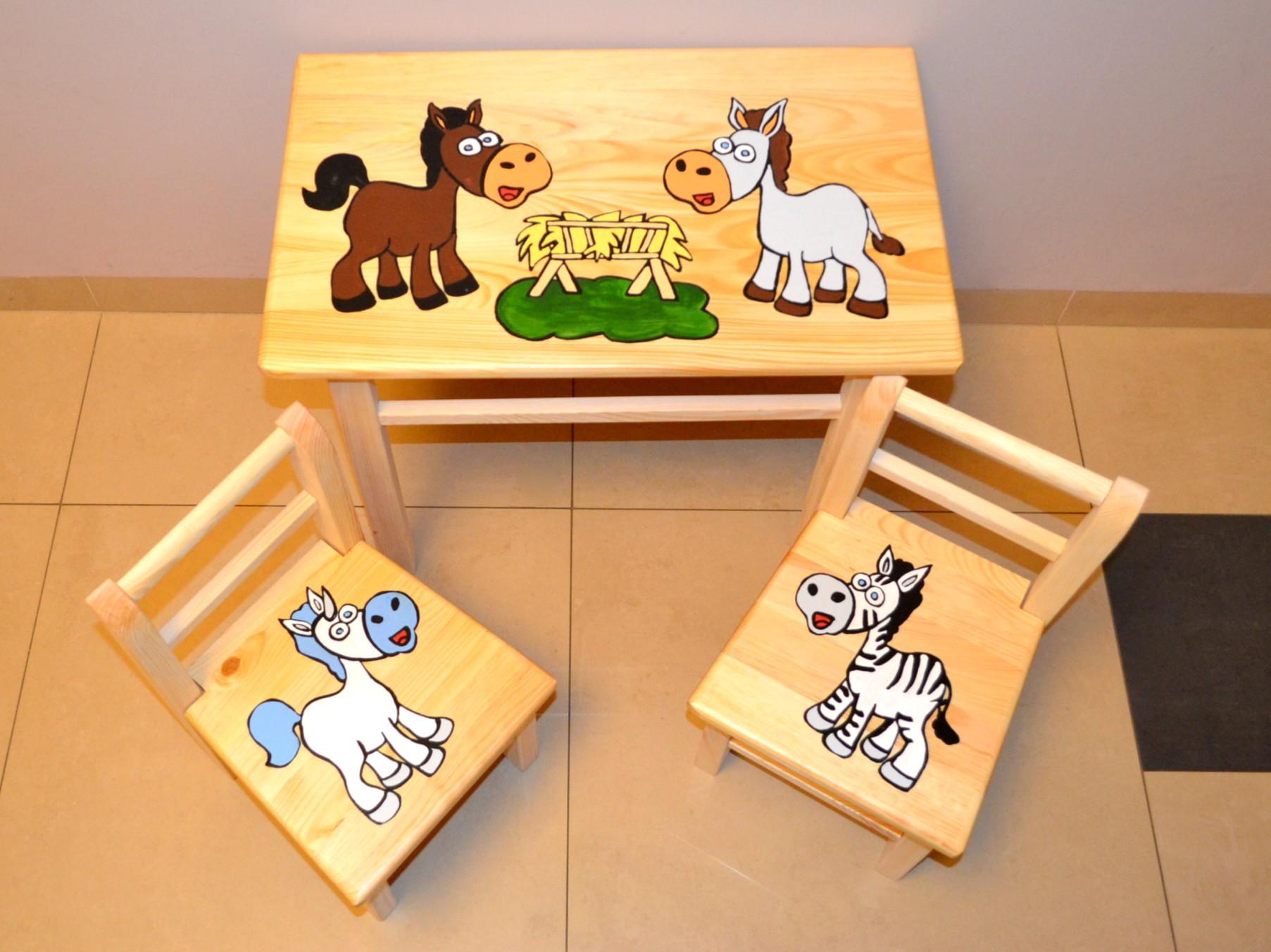 Sitzgruppe Für Kinderzimmer Tisch 2 Stühle SET Kinder
